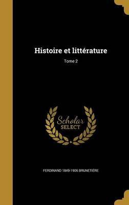 FRE-HISTOIRE ET LITTERATURE TO
