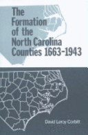 Formation of the North Carolina Counties, 1663-1943