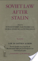 Soviet Law After Stalin