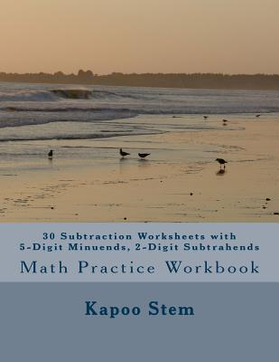 30 Subtraction Worksheets With 5-digit Minuends, 2-digit Subtrahends