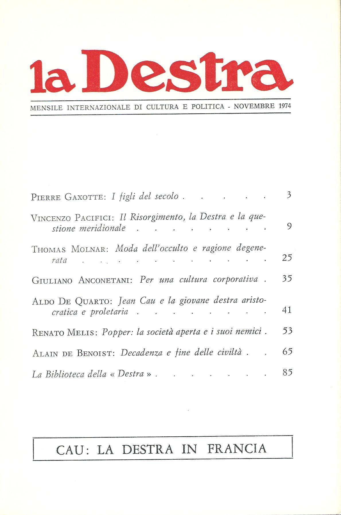 La Destra - Anno IV n. 11
