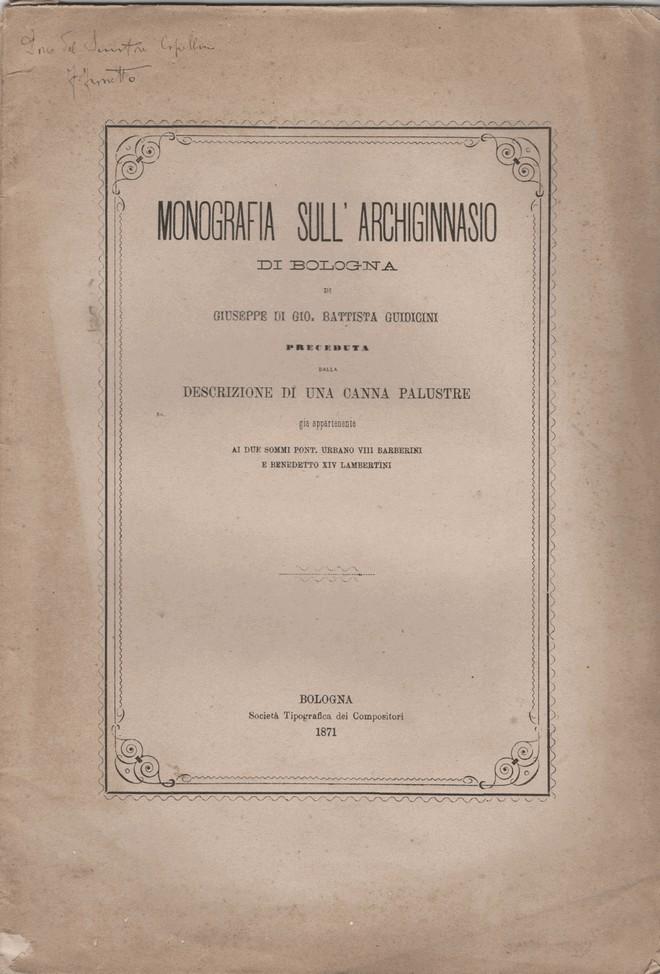 Monografia sull'Archiginnasio di Bologna