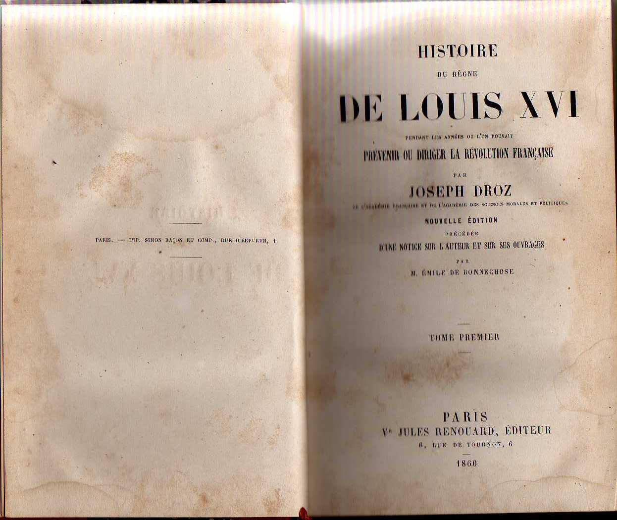 Histoire du Regne de Louis XVI