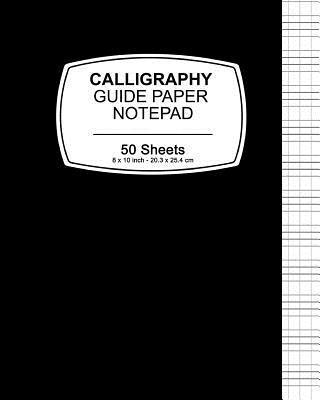 Black Cover Calligraphy Guide Paper Notepad