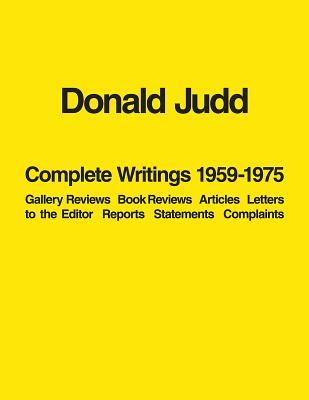 Donald Judd Complete...