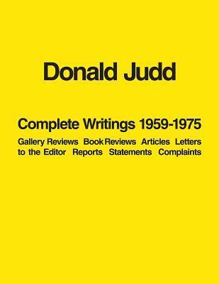 Donald Judd Complete...