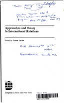 Approaches and Theory in International Relations
