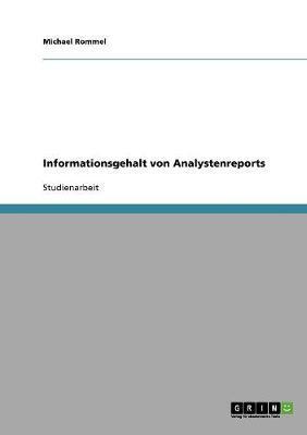 Informationsgehalt von Analystenreports