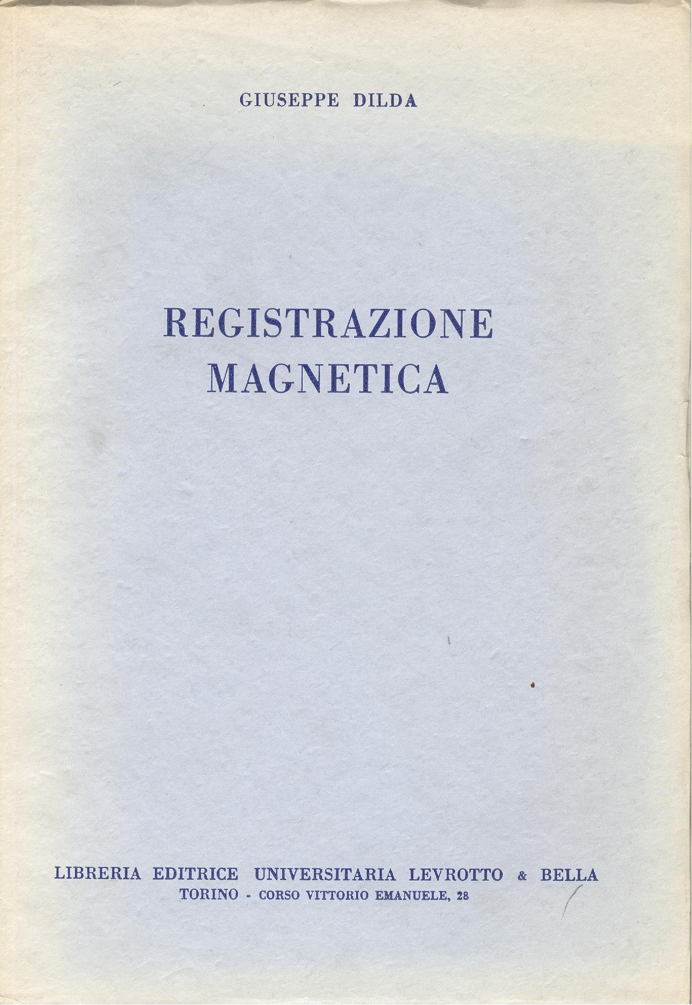 Registrazione magnetica