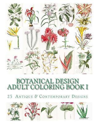 Botanical Design Adult Coloring Book