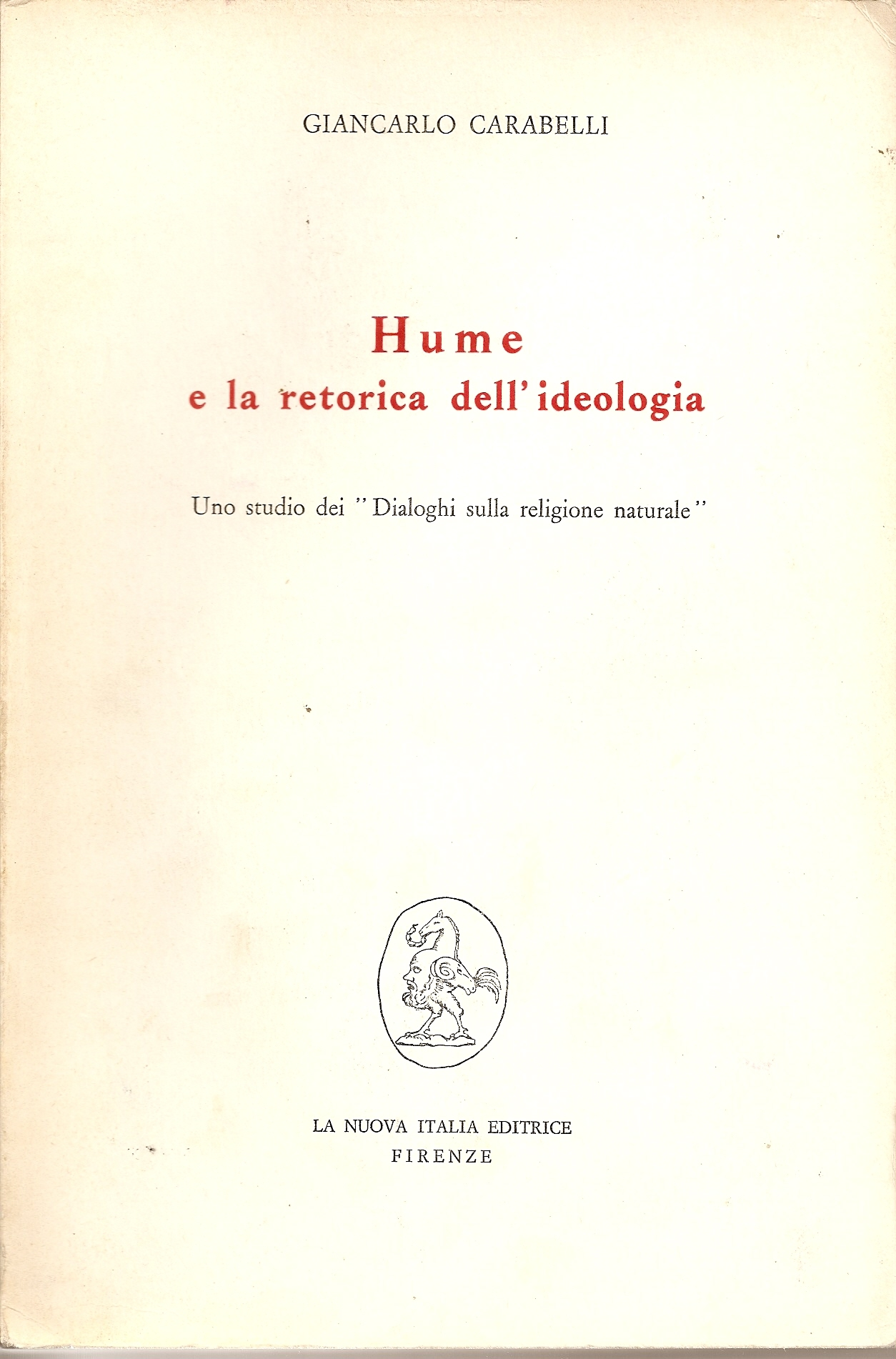 Hume e la retorica dell'ideologia