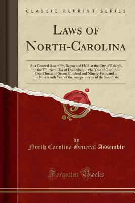 Laws of North-Carolina