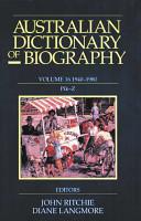 Australian Dictionary of Biography, Volume 16