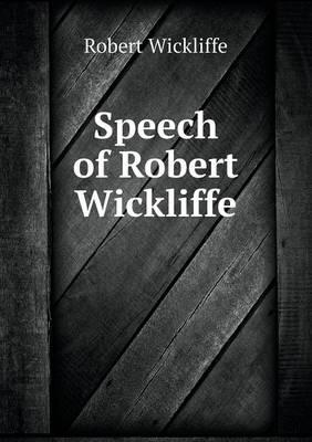 Speech of Robert Wickliffe