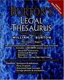Burton's Legal Thesaurus, 3rd Edition