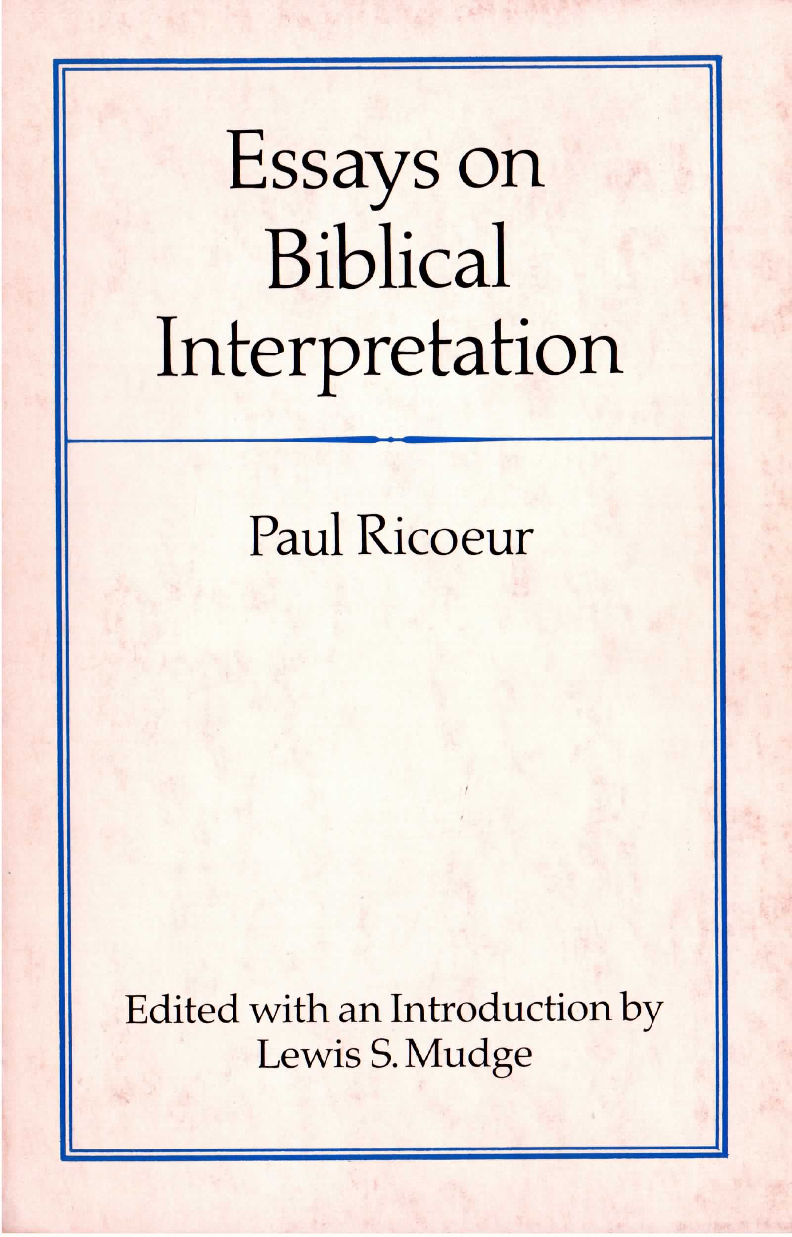 On Biblical Interpretation