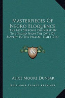 Masterpieces of Negro Eloquence Masterpieces of Negro Eloquence