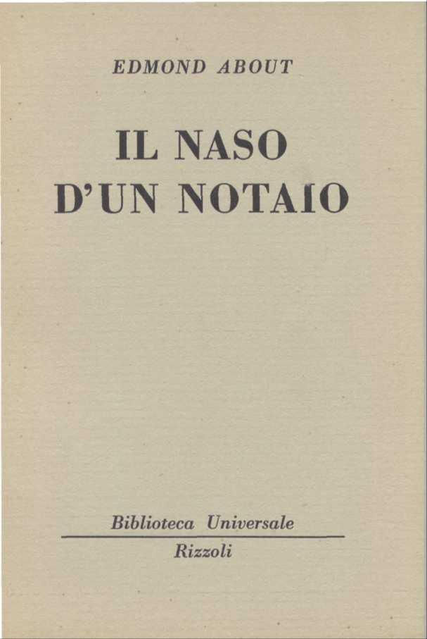 Il naso d'un notaio