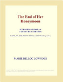 The End of Her Honeymoon (Webster's Korean Thesaurus Edition)