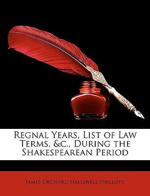 Regnal Years, List o...