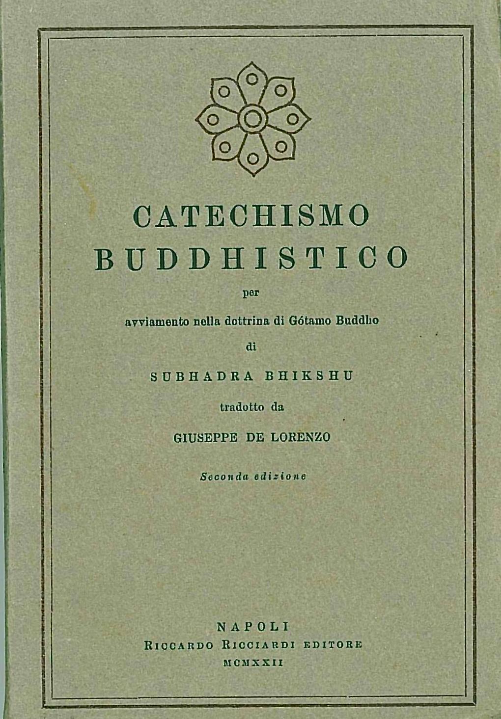 Catechismo Buddhistico