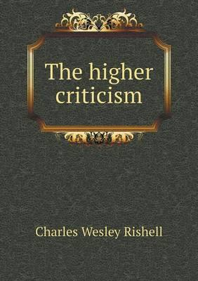 The Higher Criticism