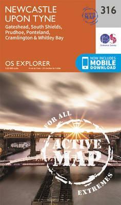 OS Explorer Map Active (316) Newcastle Upon Tyne
