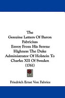 The Genuine Letters of Baron Fabricius