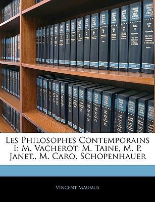 Les Philosophes Contemporains I