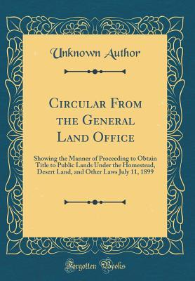 Circular From the General Land Office