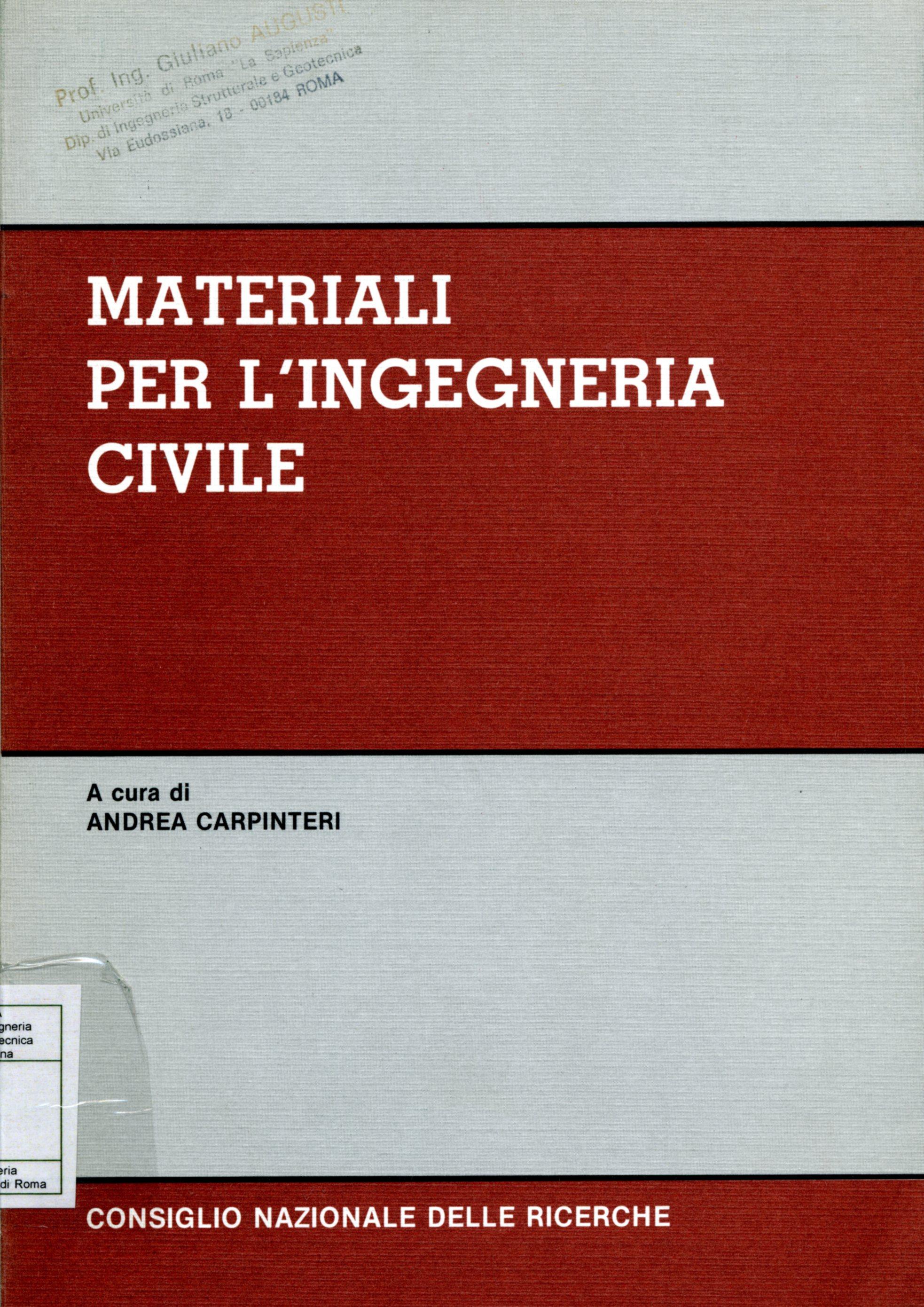 Materiali per l'ingegneria civile
