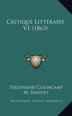 Critique Litteraire V1 (1863)
