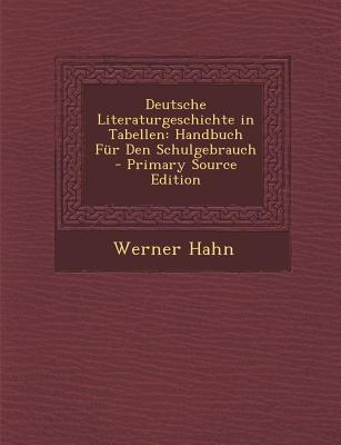 Deutsche Literaturgeschichte in Tabellen