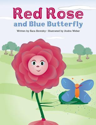 Red Rose and Blue Butterfly