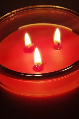 Red Three Wick Candle Journal