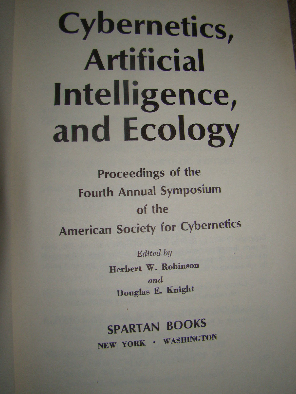 Cybernetics, Artificial Intelligence, and Ecology
