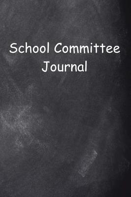School Committee Journal Chalkboard Design