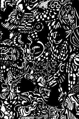 Mind Blowing Black Comic Design Lined Journal