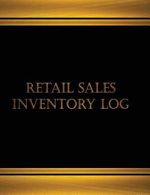Retail Sales Inventory Logbook, Black Cover, X-large