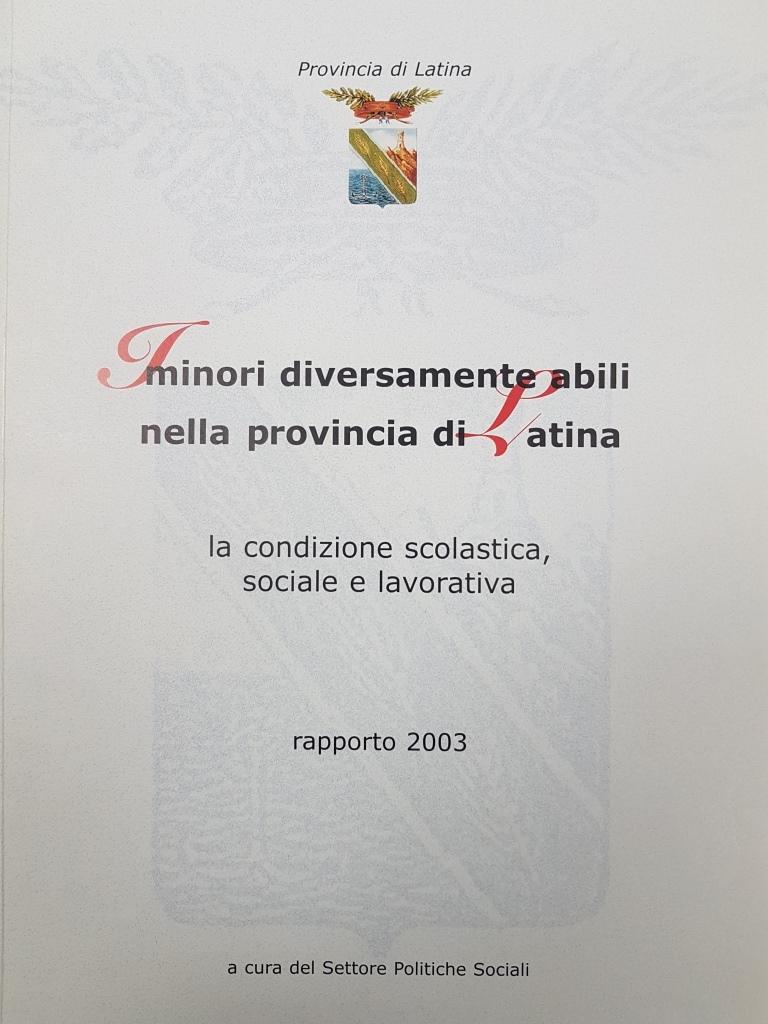 I minori diversamente abili nella provincia di Latina