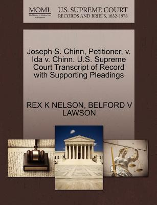 Joseph S. Chinn, Petitioner, V. Ida V. Chinn. U.S. Supreme Court Transcript of Record with Supporting Pleadings