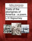 Traits of the Aborigines of America