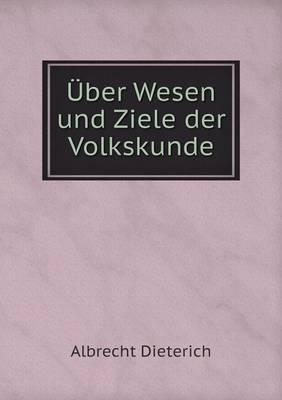 Uber Wesen Und Ziele Der Volkskunde