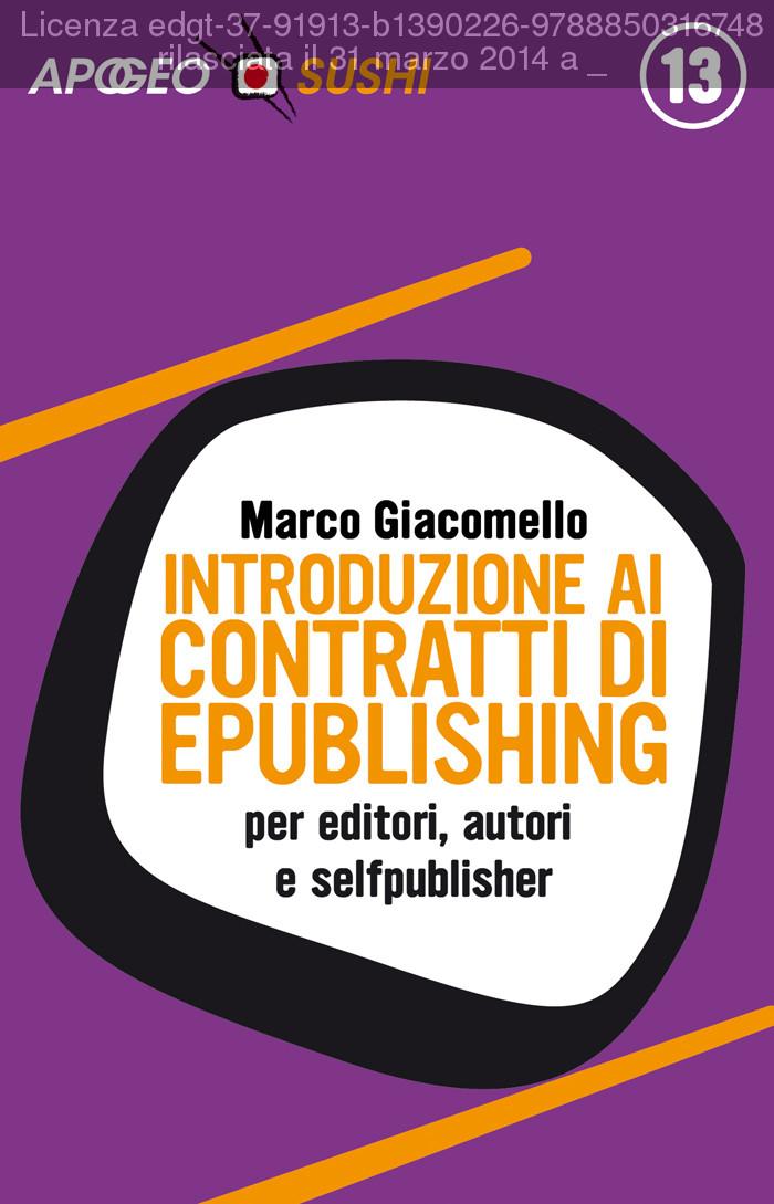 Introduzione ai contratti di ePublishing