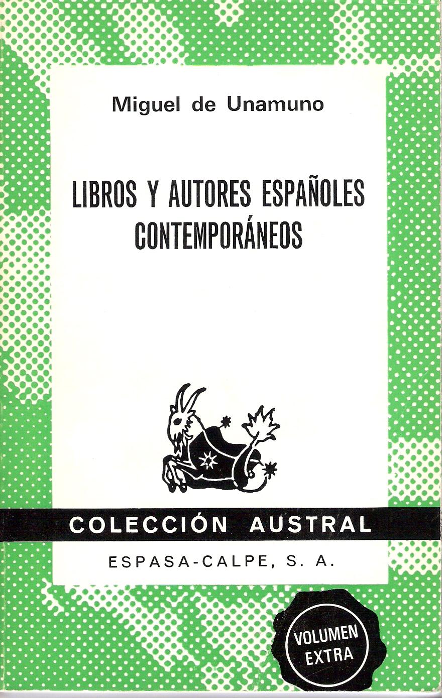 Libros y autores españoles contemporáneos