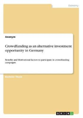Crowdfunding as an alternative investment opportunity in Germany
