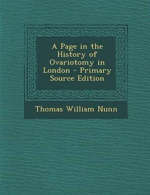 A Page in the History of Ovariotomy in London