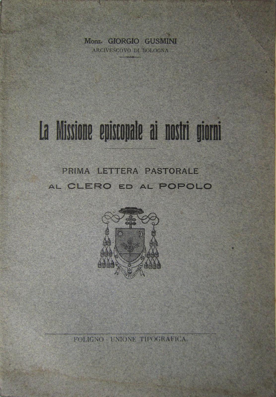 La Missione episcopale ai nostri giorni