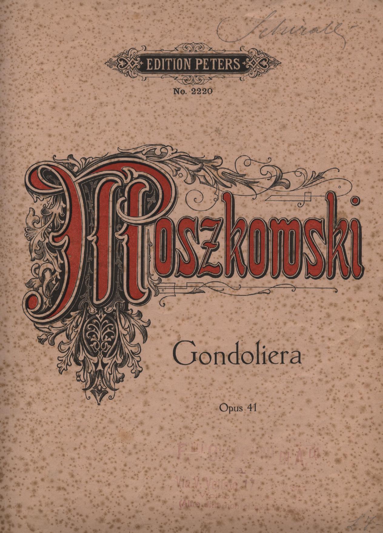 Gondoliera pour le Piano, op.41