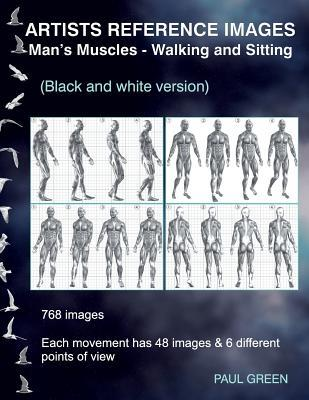 Artists Reference Images - Man's Muscles - Walking and Sitting